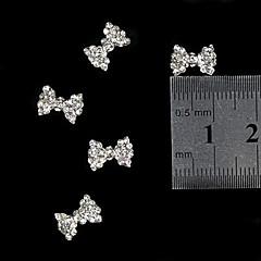 10 buc 3d clipi stras arc din aliaj de cravată accesorii de unghii unghii decorare