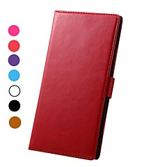 Crazy Horse Pattern Magnetic Flip Stand PC+PU Leather Case with Card Slots for Nokia Lumia 1520(Assorted Colors)