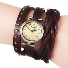 voordelige Dameshorloges-Dames Modieus horloge Armbandhorloge Kwarts PU Band Bloem Bohémien Zwart Wit Blauw Rood Bruin Groen