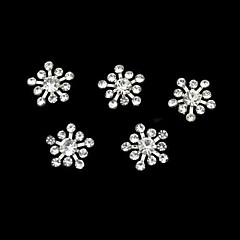 10 buc stras snownflake accesorii DIY unghii decorare