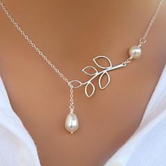 preiswerte Halsketten-Damen Perle Anhängerketten / Perlenkette - Perle, Künstliche Perle Europäisch Silber Modische Halsketten Für Party, Alltag, Normal