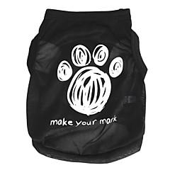 お買い得  犬用ウェア&アクセサリー-ネコ 犬 Tシャツ 犬用ウェア カートゥン ブラック テリレン コスチューム ペット用