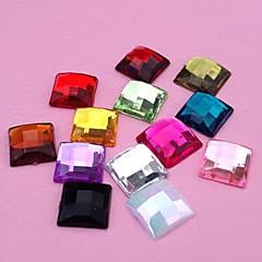 olcso Gyöngyök-z&x® 10mm 100 db DIY cukorkát színes akril szögletes strasszos flatback (véletlenszerű szín)