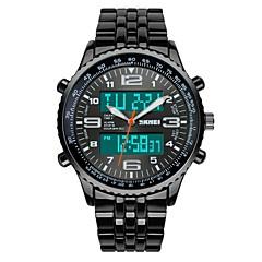 SKMEI Herre Militærur Modeur Armbåndsur Digital Watch Quartz Digital Japansk Quartz LCD Kalender Kronograf Vandafvisende Dobbelte