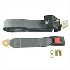 abordables Cierres de Cinturón de Seguridad-carking regazo del cinturón de seguridad del coche ajustable ™ de tres puntos de seguridad retráctil cinta gris