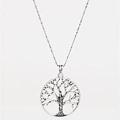 お買い得  ネックレス-女性用 ペンダントネックレス  -  友達, 命の木 ファッション シルバー ネックレス ジュエリー 用途 パーティー, 誕生日, ありがとうございました