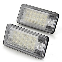 Een paar auto nummerplaat lampen bollen wit 18 smd led verlichting 12v voor audi a3 a4 8e rs4 a6 RS6