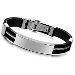 preiswerte Armbänder-Herrn ID Armband - Silikon Personalisiert, Modisch Armbänder Schmuck Schwarz Für Alltag Normal