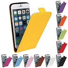 Для Кейс для iPhone 6 / Кейс для iPhone 6 Plus Флип / С узором Кейс для Чехол Кейс для Один цвет Твердый Натуральная кожаiPhone 6s Plus/6
