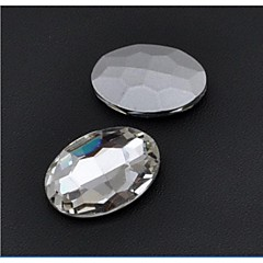 Недорогие Женские украшения-30*20MM Fashion Cellphone Beauty Oval Transparent Acrylic Faceted Sticky Rhinestones Gems(5 Pcs)