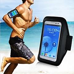 billige Galaxy S3 Etuier-For Med vindue Armbånd Etui Armbånd Etui Helfarve Blødt Tekstil for Universal S4 Mini S4 S3 Mini S3 S2 Ace