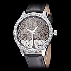 Reloj Casual Banda Flor Blanco Negro
