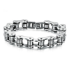 cheap Bracelets-Men's Chain Bracelet Personalized Unique Design Punk Stainless Steel Jewelry Jewelry Wedding Party Daily Casual Costume Jewelry Silver