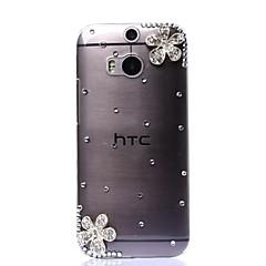 Voor HTC hoesje Hoesje cover Strass Transparant Achterkantje hoesje Glitterglans Hard PC voor HTC