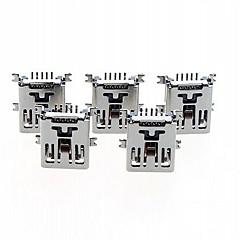 5 pin miniUSB aljzat női smd dugó ülés csatlakozó hegesztés típusa (5db)