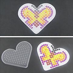 5mm 하마 비즈 퓨즈 구슬 1PCS 템플릿 분명 페그 보드 사랑의 마음