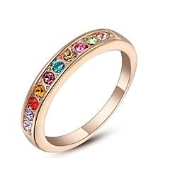 preiswerte Ringe-Damen Bandring - Krystall, vergoldet Modisch Schmuck Für Hochzeit Party Alltag Normal 6 / 7 / 8 / 9 / Kubikzirkonia