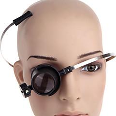 zw-13b-una lupa llevado lupa de reparación de relojes 15x ojo-clamp-libre (2 x CR1620)