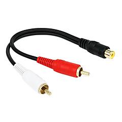 preiswerte Kabel & Adapter-keluoer 0,2 Mio. 0.656ft Cinch-Buchse auf 2 RCA-Stecker Audio-Video-TV-Kabel versandkostenfrei