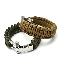 cheap Emergency & Survival-Survival Bracelet Hiking Climbing Emergency Stainless Steel Aluminium Alloy Nylon pcs