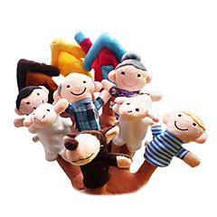 cheap Puppets-Sheep Finger Puppets Puppets Cute Lovely Novelty Cartoon Textile Plush Girls' Gift 10pcs