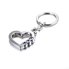3d bling lila Kristall geheimnisvolle Herz Zink-Legierung Schlüsselanhänger (ersten 10 Kunden mit Feld hinzugefügt)