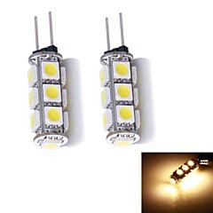 G4 2-pins LED-lampen 13 leds SMD 5050 Warm wit 130~150lm 3000~3500K DC 12V