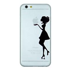 Для Кейс для iPhone 6 / Кейс для iPhone 6 Plus Матовое / Полупрозрачный / С узором Кейс для Задняя крышка Кейс дляКомпозиция с логотипом