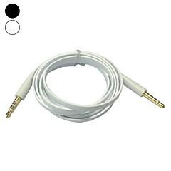1m 3.3ft lapos tészta 3,5 mm-es audio jack dugó a férfi csatlakozó kábel (vegyes színes)