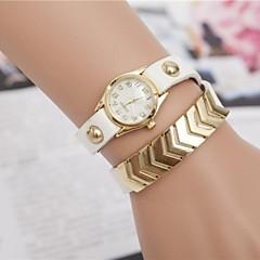 abordables Top Ventas-Mujer Reloj Casual / Reloj Pulsera / Simulado Diamante Reloj La imitación de diamante PU Banda Negro / Blanco / Azul