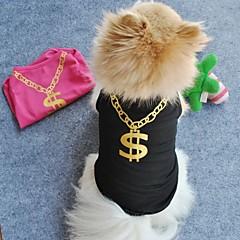 お買い得  犬用ウェア&アクセサリー-ネコ 犬 Tシャツ 犬用ウェア ブラック グリーン ブルー ピンク テリレン コスチューム ペット用 コスプレ 結婚式
