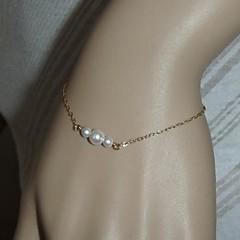 preiswerte Armbänder-Damen Perle Ketten- & Glieder-Armbänder / Bettelarmbänder - Armbänder Silber / Golden Für Party / Alltag / Normal