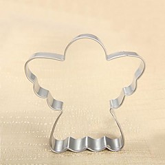 ieftine -Christmas Theme Angel Shape Cookie Cutter, L 7.4cm x W 7.3cm x H 2cm, Stainless Steel
