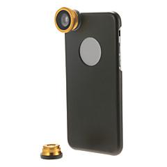 Kit de lente 3-em-1 com telemóvel caso para iphone 6 mais (cores sortidas)