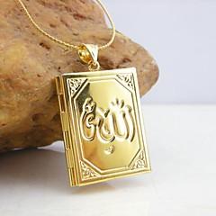 18k aranyozott allah muzulmán könyv medál