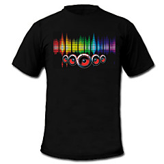 cheap LED Novelty Lights-LED T-shirts Sound activated LED lights Textile Stylish 2 AAA Batteries