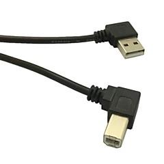 preiswerte Kabel & Adapter-0.5m rechtwinklige USB 2.0 A Stecker auf gewinkelte Messer 90-Grad-Kabel für Drucker Scanner b