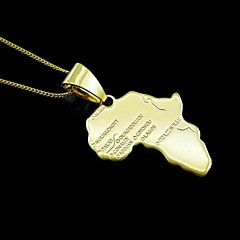 18K Real Gold Plated Map Of Africa Pendant 2.9*4.9CM