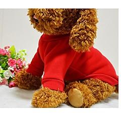كلب T-skjorte كنزة ملابس الكلاب جميل صلب أسود أحمر أزرق زهري