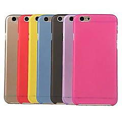 abordables Fundas para iPhone 6s Plus-Funda Para iPhone 6 iPhone 6 Plus Transparente Cubierta Trasera Color sólido Suave Policarbonato para iPhone 6s Plus iPhone 6 Plus iPhone