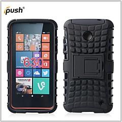 Недорогие Чехлы и кейсы для Nokia-Кейс для Назначение Nokia Lumia 630 / Nokia Кейс для Nokia Защита от удара / со стендом Кейс на заднюю панель броня Твердый ПК для