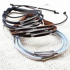 Z&x® случайные многослойные ручной работы мужские кожаные браслеты (1шт, черный, белый, кофе)