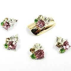 olcso -12 színben új csillogó gyémánt matrica glitter 3d szelet por dekoráció beállítva