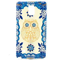 For Samsung Galaxy Note Mønster Etui Bagcover Etui Ugle TPU Samsung Note 4