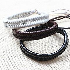 billige Herre Smykker-Herre Læder Armbånd Unikt design Mode Håndlavet Læder Smykker Smykker Til Fest Daglig Afslappet Julegaver