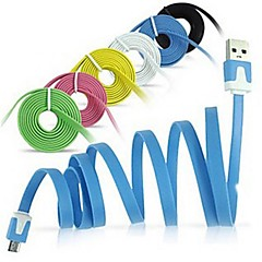 Micro USB Noodles Flat Sync USB Data Cable for Android Phone(Assorted Colors)