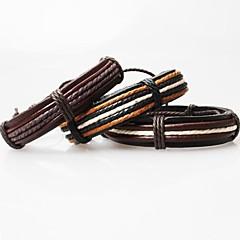 Кожаные браслеты Уникальный дизайн Ручная работа бижутерия Мода Кожа Ткань Бижутерия Бижутерия Назначение Для вечеринок Повседневные