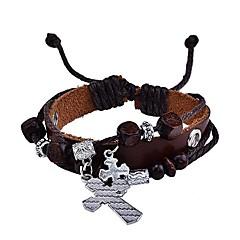 lureme® винтажном стиле кросс прядь браслет