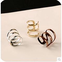 preiswerte Ohrringe-Damen Ohr-Stulpen Huggie Ohrringe - damas Retro Simple Style Schmuck Silber / Bronze / Golden Für Hochzeit Party Alltag Normal