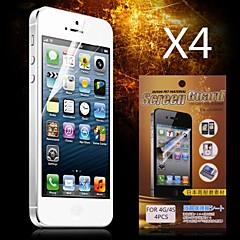 Недорогие Защитные пленки для iPhone 4s / 4-Защитная плёнка для экрана Apple для iPhone 6s iPhone 6 4 ед. Защитная пленка для экрана HD